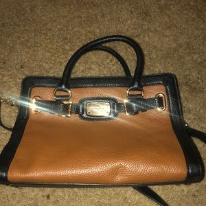 Michael Kors brown and black purse